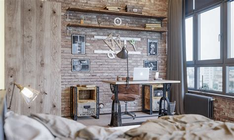 industrial style home office inspiration