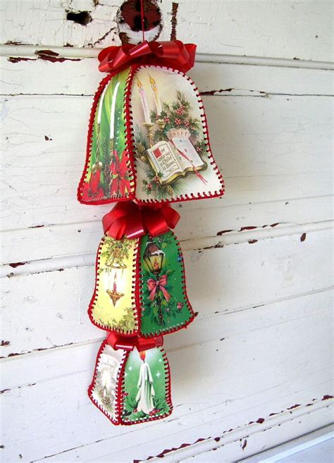 vintage christmas bells   vintage  peppermintbark