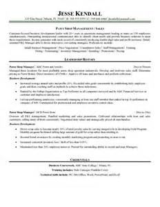indian store manager resume format exle pawn store manager resume free sle