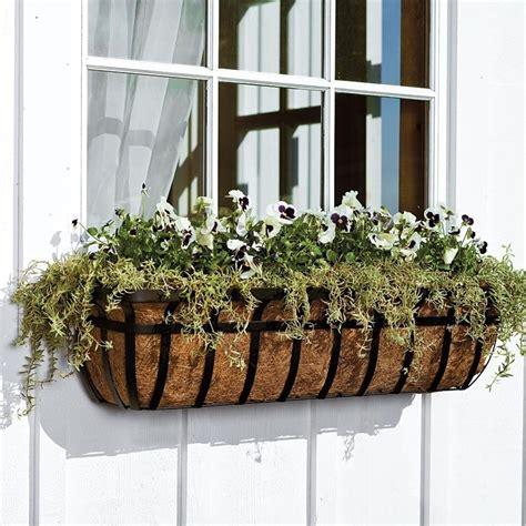 plow hearth metal window box planter reviews wayfairca