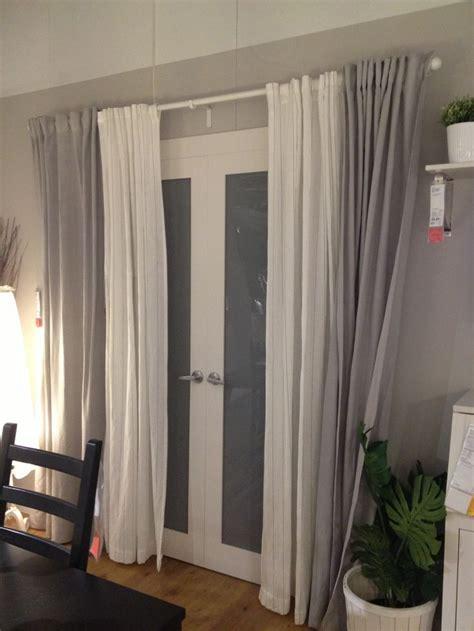 sliding glass door decor images  pinterest sheet curtains window dressings  bedrooms