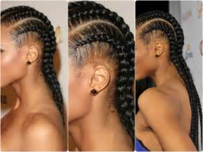 weave extensions simple and easy cornrow tutorial