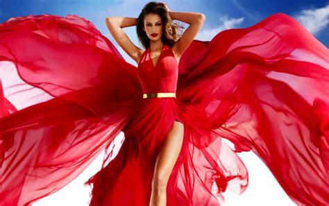 Red Girl Elegant Beautiful Dress Model Woman Veils