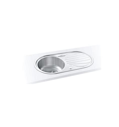 sapphire round single bowl drainer inset kitchen sink