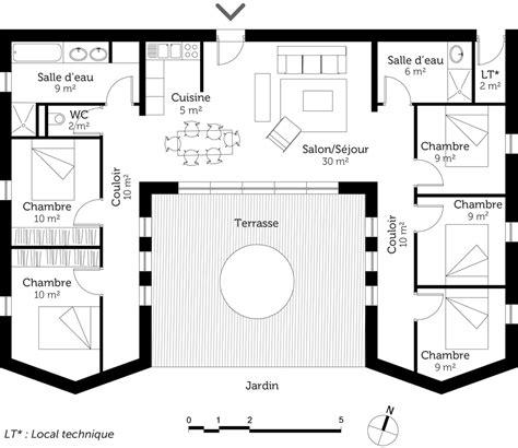 plan maison plain pied 6 chambres plan maison plain pied avec 5 chambres ooreka