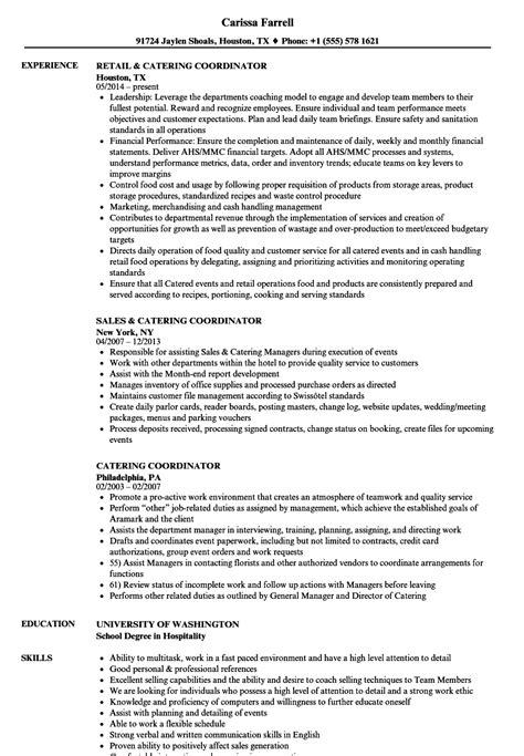 Catering Resume by Catering Coordinator Resume Sles Velvet