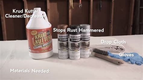How To Paint Over Rust With Rust-oleum Hammered Spray