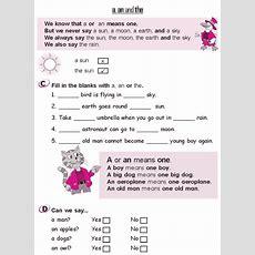 Grade 2 Grammar Lesson 3 Articles  A, An And The (3)  Grammar  Fichas Ingles, Aprender Inglés