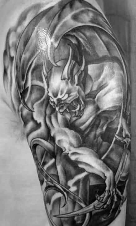 70 Gargoyle Tattoo Designs For Men - Stone Statue Ideas