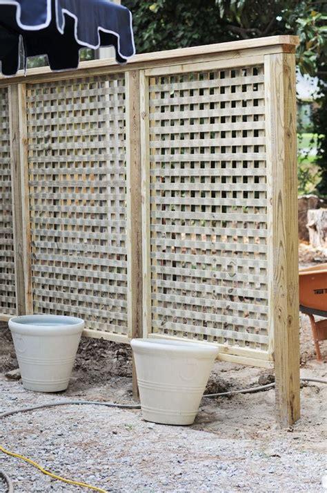 Backyard Privacy Screens Trellis - we built a lattice wall in the backyard gardening