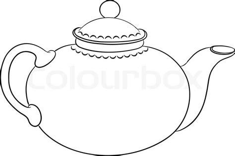 teapot clipart outline pencil   color teapot