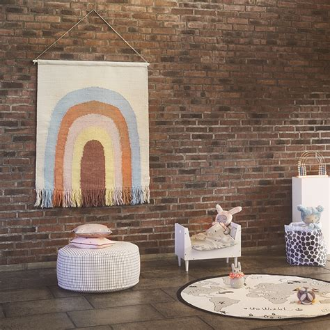 oyoy follow  rainbow wall rug leo bella