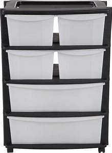 Home, 6, Drawer, Black, Plastic, Wide, Tower, Storage, Unit, Review