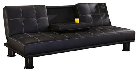 contemporary soda black faux leather klik klak sofa bed contemporary futons by ls plus