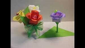 Origami Für Anfänger : einfache origami blume origami rose youtube ~ A.2002-acura-tl-radio.info Haus und Dekorationen