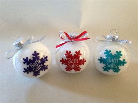 bath salts in a christmas ornament what a clever idea
