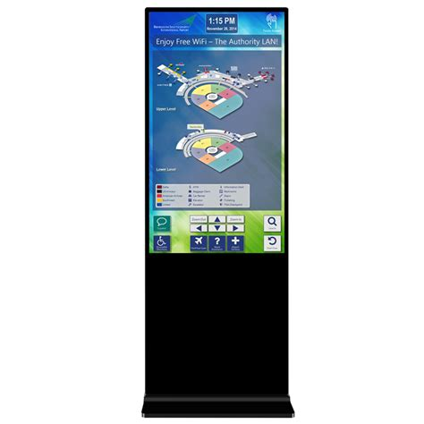 """Pro display's freestanding advertising kiosks are designed to advertise, inform, and entertain, ideal for use in airports, hotels, and retail stores. 55"""" Freestanding Kiosk / FDD055 - Digital LCD Displays"""