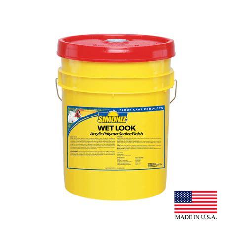 simoniz  gallon pail wet  acrylic floor sealer