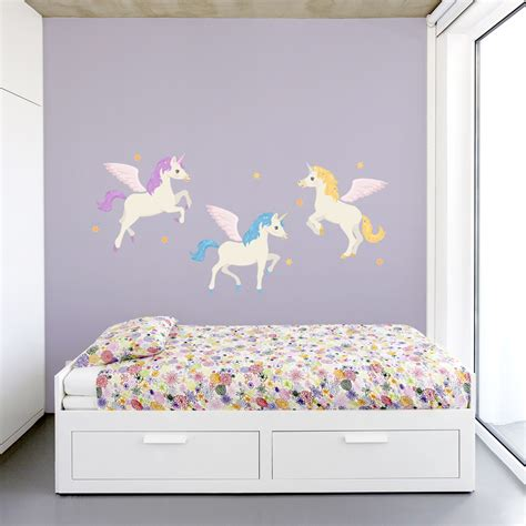 unicorn wall decals unicorn wall stickers wallums