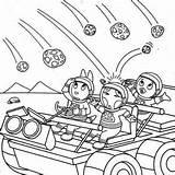 Coloring Meteor Backyardigans Pablo Austin Uniqua Hit Designlooter 27kb 300px sketch template