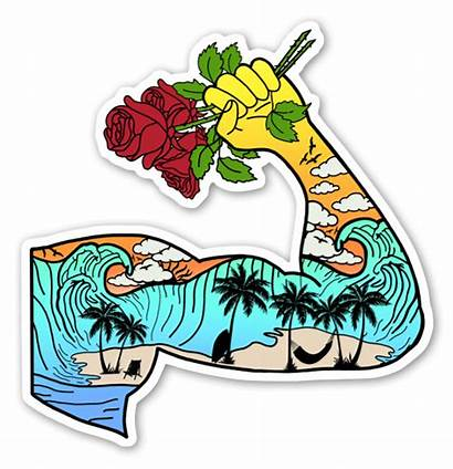 Muscle Stickers Sticker Naklejki Popularne Dekaler Plaża