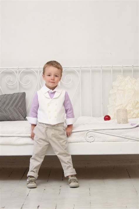 Ring Bearer Outfit Wedding Party Outfit Toddler Boy Vest And Pants Boys Baptism Outfit Boys ...