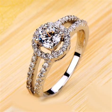 jewels diamond ring for her gold plated women ring
