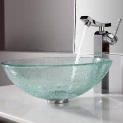 bathroom faucet ideas bathroom modern luxury bathroom design with bowl glass sink and stainless faucet on the white