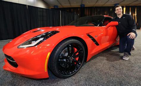 chevy corvette awarded  super bowl mvp autoguide