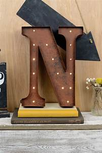 marquee letters n 12in battery operated 17 warm white led With marquee letter n