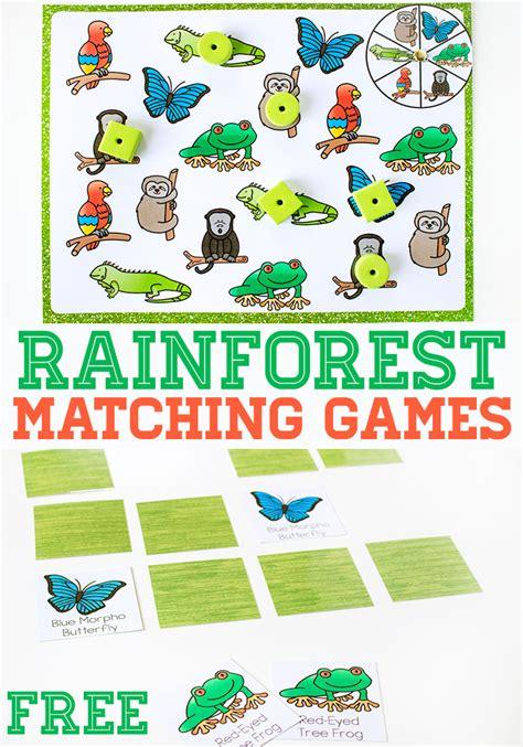 Free Rainforest Matching Game  Free Homeschool Deals
