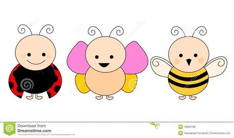 butterfly ladybug  bee royalty  stock