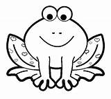 Frog Coloring Pages Frogs Cartoon Printables sketch template
