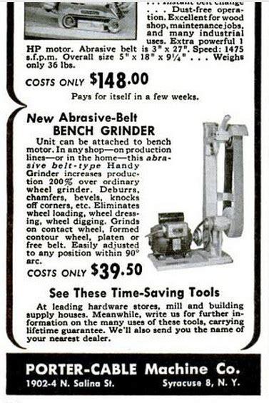 porter cable machine   ad  abrasive belt