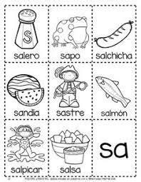 resultado de imagen para palabras con sa se si so su dibujos lengua silaba lecto escritura