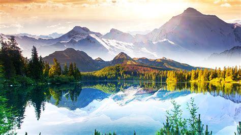 湖泊高山自然风景壁纸-风景壁纸-壁纸下载-彼岸桌面