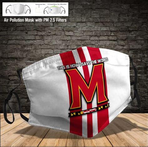 maryland terrapins face mask