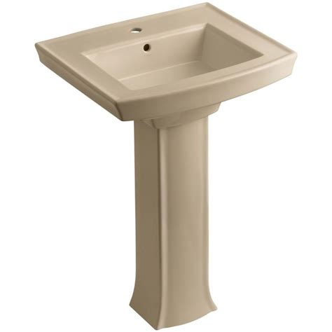 bathroom sink drain home depot kohler archer vitreous china pedestal combo bathroom sink