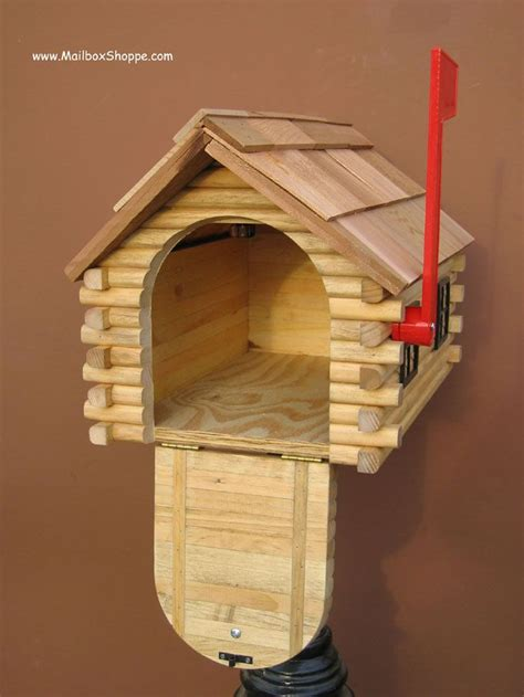 log cabin mailbox inspirations   wooden mailbox