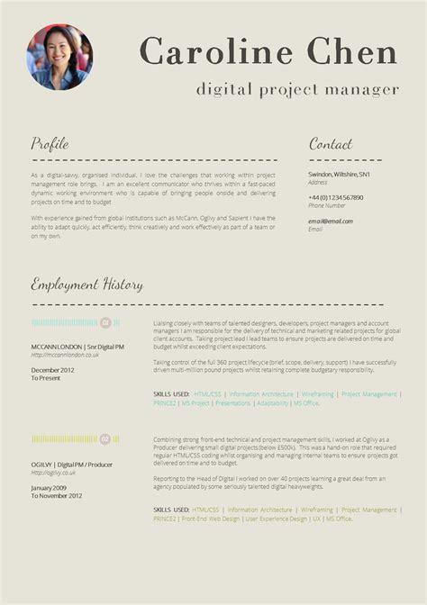 Resume Vitae Template by Resume Templates And Resume Exles Resume Cv