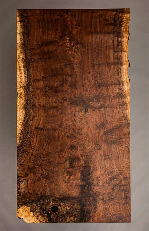 edge walnut slab dining room table  edge walnut