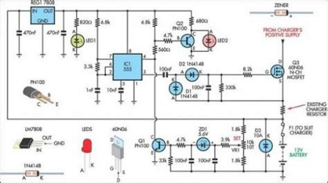 Battery Charger Regulator Circuit Diagram