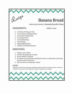 recipe card the scacchi house With template for recipes in word