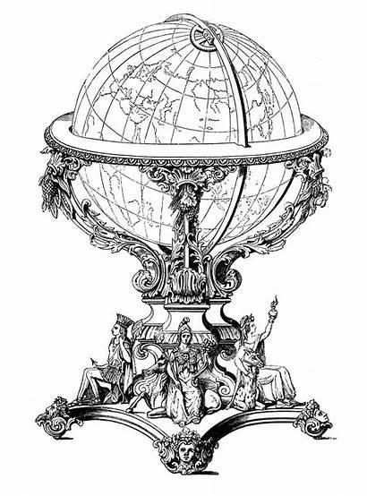 Globe Fairy Graphics Steampunk Printable Clip Ephemera