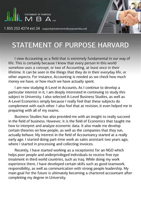 Harvard Mba Resume Format by Statement Of Purpose Harvard Statement Of Purpose Mba