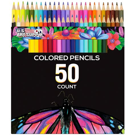 50 piece adult coloring book art colored pencils