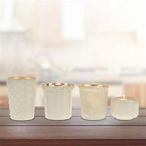 stonebriar collection 325 in milky glass votive candle With kitchen colors with white cabinets with mercury glass votive candle holder