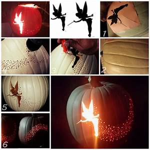 Easy To Make Tinkerbell Pixie Dust Pumpkin Carving - DIY