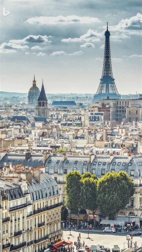 Pin By Emily On Pretty Bing Backgrounds Paris Skyline