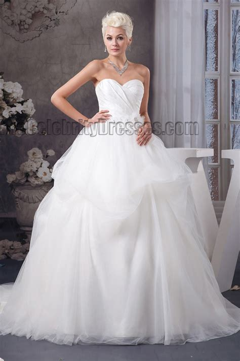 celebrity inspired strapless sweetheart ball gown wedding